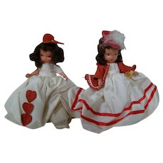 Two Lovely Bisque NASB Dolls, All Original, One Tagged, One Jointed Legs