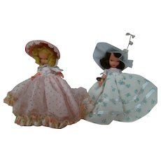 Two Bisque NASB dolls, All Original, One with Wrist Tag, One with Jointed Legs, Excellent!