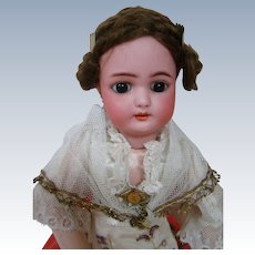 Special and Original Simon Halbig Lady Doll in Magnificent Couture Costume and Wig