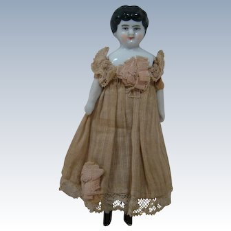 Original Antique 5 Inch China Shoulder Head Doll Made in Germany