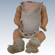 7-1/2 In. Estate German Quality Composition Jointed Baby Body, Original Undershirt, Diaper and Booties