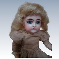 RARE in this 7-1/2 Inch Size!  J. D. Kestner Bisque Head Doll on Fully Jointed Body and She Has it All!