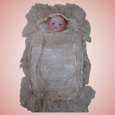 Beautiful Hand-Made Puppet Using the Armand Marseilles 341 Baby Head.  So Cute!