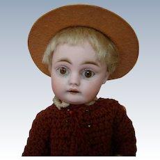 Cutest Ever 7 In. Kestner Mold 143 Character Doll, Original Jointed Body, Sleep Eyes, Square Cut Teeth, Blond Mohair Orig. Wig, Pate