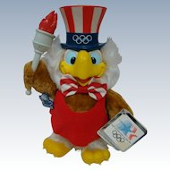 Sam the Olympic Eagle, Official Mascot for the Olympic Games in 1984, by Applause, with 3 Original Tags