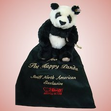 13 In. Foo, the Happy Panda, a Steiff North American Exclusive, Ltd Ed. 1500, with Identifying Cloth Carrying Bag