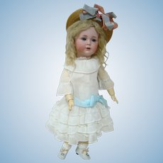 21 Inch Rare Simon Halbig #120 Character Doll, Blue Sleep Eyes, Antique Clothes, Shoes and Wig, Beauty!
