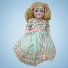 Large All Bisque Girl by J. D. Kestner, Mold #150 Beautifully Dressed, Original Wig, Excellent Condition