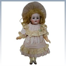 6-1/4 In. German K*R Head by Simon Halbig German Bisque Head Doll on Original 5-Pc. Composition Body, Finely Dressed!