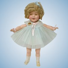 Composition MIB Ideal Shirley Temple Doll, 22 Inch, Complete and Wonderful!  20+ Piece Wardrobe