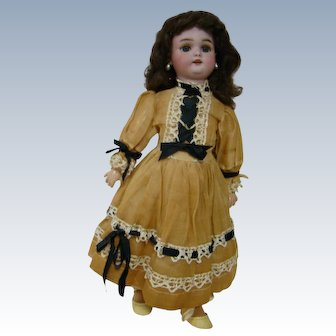 Perfect Cabinet Size German Simon Halbig Bisque Head Doll, Original Fully Jointed Body