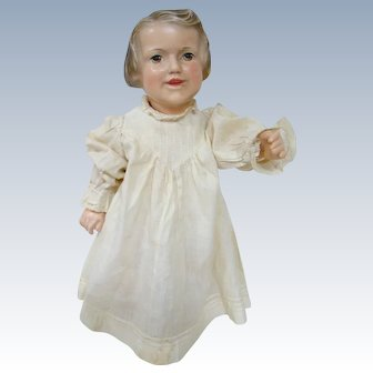 Rare Early Composition Character Raleigh Doll, Molded Hair, Spring Jointed