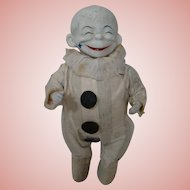 12.5 Inch Very Rare Original Hard Composition and Cloth Clown Doll, a Peterkins Variation by Horsman