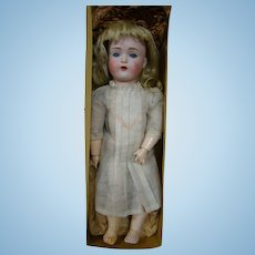 12.5 In. German Kestner Mold #171 Bisque Head Child Doll in Original Box and Chemise