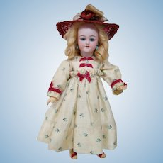 12 In. Simon Halbig Mold #1249 ( Santa Mold # ) Bisque Head Doll on Original Fully Jointed Comp Body