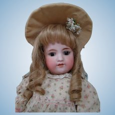 22 In. German Simon Halbig Bisque Head Child Doll on Original Fully Jointed Composition Body, Mold #570