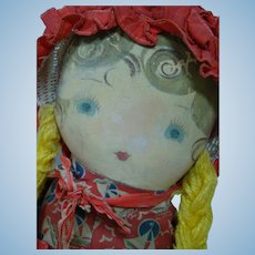 19 In. Original Cloth Masked Face Doll