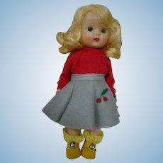 Pretty Blond Muffie by the NASB Dolls Co., Straight Leg Walker, Great Wig