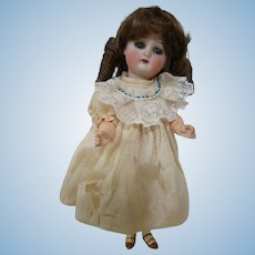 8 In. German Bisque Head Doll by Halbig / K&R on Original Five-Piece Flapper Body