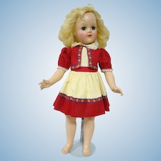 Hard Plastic P93 Toni Doll by Ideal, 1940's