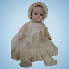 """1930's Composition / Cloth 16 In. """" Little Genius """" Baby Doll by Madame Alexander, All Original, Excellent Condition"""
