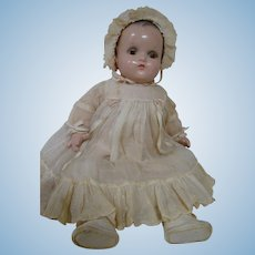 "1930's Composition / Cloth 16 In. "" Little Genius "" Baby Doll by Madame Alexander, All Original, Excellent Condition"