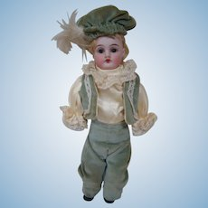 German Bisque Shoulder Head Doll by J. D. Kestner on Excellent Kid Body, Sleep Eyes, Mini Size 10 Inches