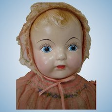 Beautiful 20 Inch Composition / Cloth Mama Doll by Effanbee, All Original