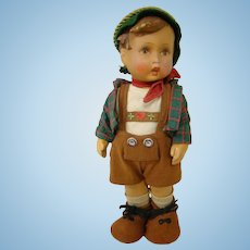 Rubber Doll by Goebel, Original Hummel Boy Model, Made in Germany ca: 1950's, 11 Inches
