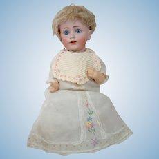 Bisque Head German Character Baby, Mold #257 by J. D. Kestner, Original Five-Pc Baby Body, Blue Sleep Eyes