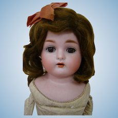 German Bisque Shoulder Head Child Doll by Kammer & Reinhardt, Lovely Original Wig and Hairbow Never Removed