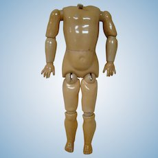 J. D. Kestner German Ball Jointed Child Body, Original Finish