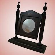 Mirror with Wood Frame and Stand for a Lady Doll