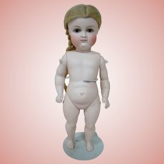German All Bisque Pouty Kestner, Desirable 9-1/2 Inch Size with Swivel Neck and Bare Feet