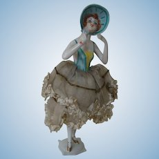 Standing Large Bonnet Head Half Doll with Legs Candy Container