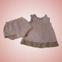 Vintage Pink Slip and Panties Factory Made for a Doll from the 50's or 60's