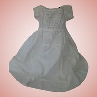 Wonderfully Ornate Antique Cotton Dress / Gown for English Wax Doll