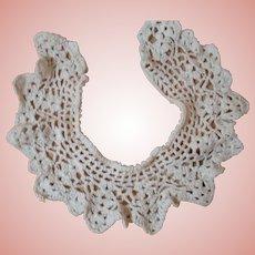 Pretty Antique Cotton Crochet Collar for Doll Dress