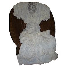 Gorgeous Victorian Ladies' Dress with Embellishments, French Lace, Ball Tassels, Etc. for Doll Dressmaking