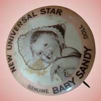 Original Factory Pin / Button for Composition 1930's Baby Sandy Doll