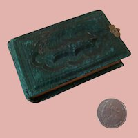 """Antique Miniature Album of Old Photos 3-1/4"""" x 2"""" - Accessory for French Fashion"""