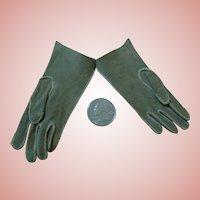 Antique Doll Size Suede Gloves, Excellent Condition