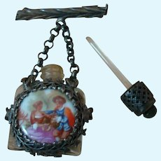 Hello French Fashions!  Outstanding Decorative Pin with Perfume Bottle Marked Made in France