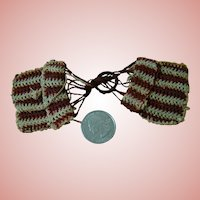 Vintage Wine and Ecru Crocheted Purse for a French Fashion