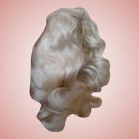 Smaller Size Factory Mohair Blond Wig with Waves, Curls and Center Part