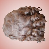 Absolutely Factory Original Set Blond Mohair Wig with Curls, Waves and Bangs