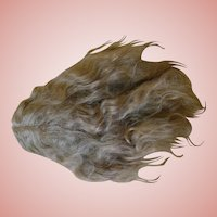 Lovely Long Factory Dark Blond Mohair Wig with Waves, Center Part