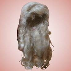 Beautiful Mohair Wig, Replacement for a French Fashion Doll 6-7 in. Cir. Head