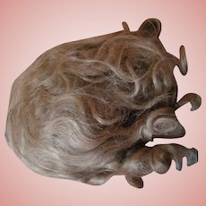 Factory Mohair Wig with the Original Set, Curls, Center or Slightly Side Part