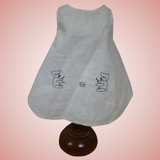 Original Antique Cotton Apron for German Character, Possibly Kruse Child